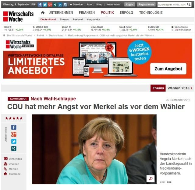 CDU hat mehr Angst vor Merkel als vorm Wähler