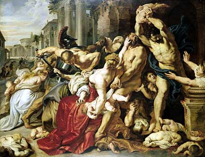 "The Rennaisance painting ""The Massacre of the Innocents"" painted by Peter Paul Rubens between 1609 and 1611. (AP Photo)"