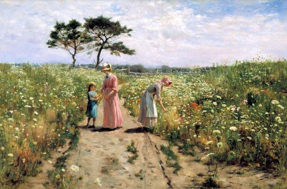 4-painting-2-women-and-a-girl-in-wild-flower-garden