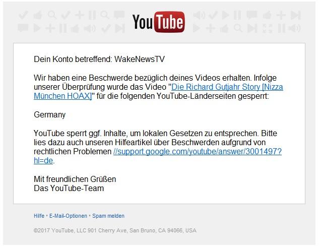 Bundes Youtube Zensur Bei Wake News Tv Youtube Channel