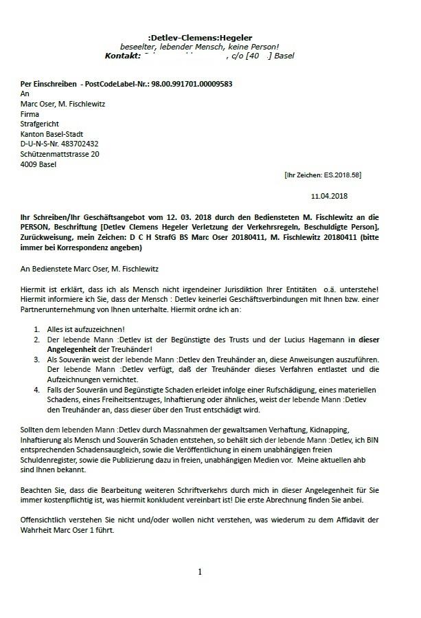 Berühmt Affidavit Der Faktenvorlage Ideen - Dokumentationsvorlage ...